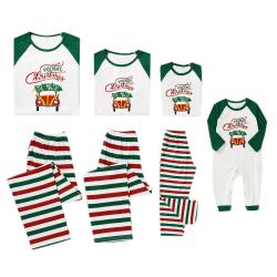 Familj jul randig förälder-barnpyjamas, barnpyjamas