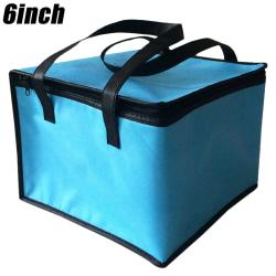 Trendig picknickpåse _ Bärbar isoleringsväska _ Bento-väska blue 6 inches