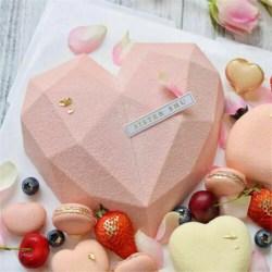 Hjärtformad bakform för kakformform DIY-bakverktyg i hemmakök white