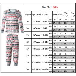 Höst / vinter jul Föräldra-barn hem pyjamas, två delar