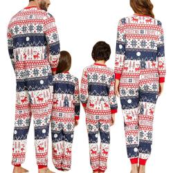 Jul förälder-barn kostym tryckt hem kläder pyjamas i ett stycke