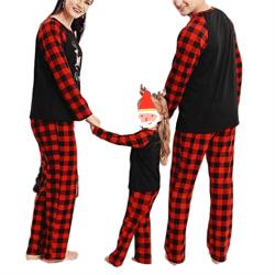 Jul föräldra-barn service kostym pyjamas, rutiga pyjamas