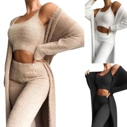 Alla hjärtans dag gåva tredelad klänning för kvinnor vit XL