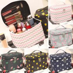 Dammode trend 4 resekosmetisk väska Flamingo Grey 22cm*16cm*16.5cm(L*H*W)