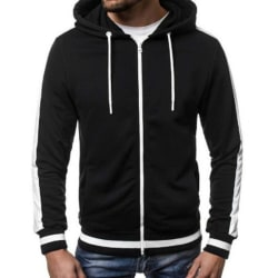 Herr Varm varm hoodiejacka Gym Sports Casual Zipper Outwear