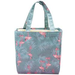 Picknickpåse bärbar utskrift värmebehandling väska lunchpåse Flamingo 21*15*20cm