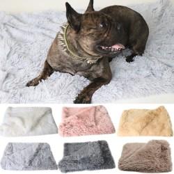 hund plysch husdjur matta lämplig för stora och medelstora hundar hun brown S