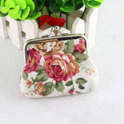 plånbok Rose blomma retro plånbok retro plånbok klassisk enkel pl White