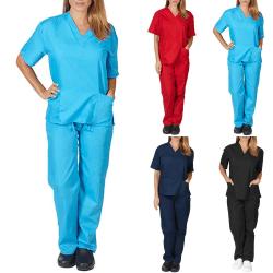 Sjuksköterska kostym vanliga arbetskläder, vanliga arbetskläder himmelsblå XL