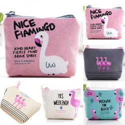 plånbok Liten plånbok med flamingo mönster plånbok Pink