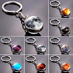 Solsystemet planet nyckelring månen jorden solen glas boll nyckel H