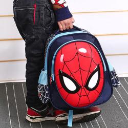 Spiderman ryggsäck skolväska superhjälte tecknad anime skolväska Sky blue