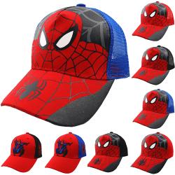 Spiderman keps utomhus baseball keps Spiderman Hip Hop keps Grid blue 48-53cm
