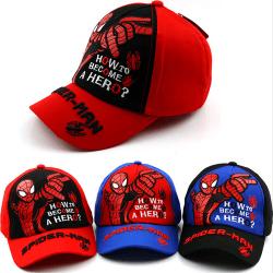 Spiderman Peaked Cap Outdoor Baseball Cap Mode Barnhatt black 50-54CM