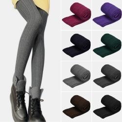 Strumpbyxor för kvinnor, leggings, strumpbyxor i vinterull lila One Size