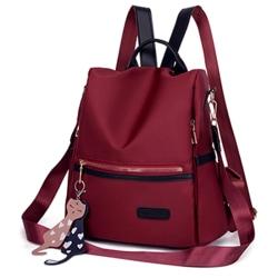 Student ryggsäck trendig väska med stor kapacitet wine red