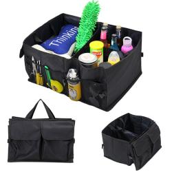 Svart bilinteriör Tidy Organizer Storage Bag Bag med fickor