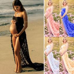 Tube top moderskap klänning kvinnors klänning fotografi klänning white L