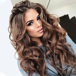 Woman's Big Wave Long Curly Wig, Fashion Long Curly Wig 65-70cm