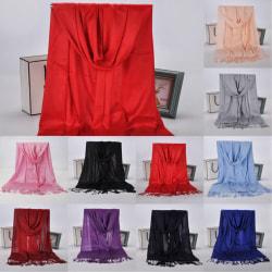 Woman's fringed scarf shawl fashion simple scarf scarf light grey