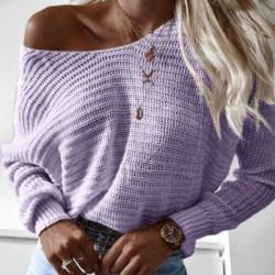 Kvinnor damer höst vinter varm skön tröja långärmade toppar