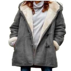 Kvinnor PU läderrock vinter varm casual kofta jacka utkläder
