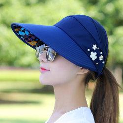 Damskydd solskydd enkel hatt Navy