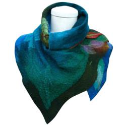 Kvinnors blad oregelbunden halsduk elegant sjal mode trendiga halsduk blue