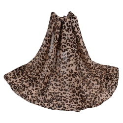 skal Leopard Scarf för kvinnor Temperament Scarf Shawl Mode Scarf Shallow U Leopard