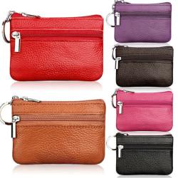 Lång plånbok för kvinnor _ kopplingsväska _ plånbok med blixtlås rose Red