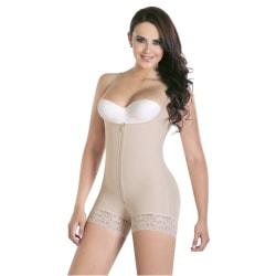Kvinnans högviktiga buk och höfter kropp Midja Trainer korsett apricot 3XL