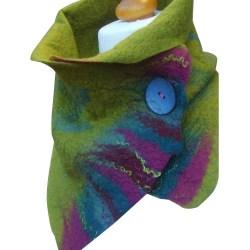 Kvinnors tryckta spännehalsduk elegant sjal mode trendig halsduk