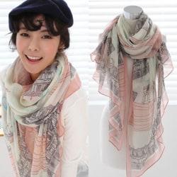 Halsduk för konstruktion av halsduk för kvinnor Mode halsduk Eiffel tower