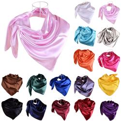 Kvinnors enfärgade halsduk temperament halsduk sjal mode Deep purple 90*90cm