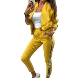 Women Sequion Flash Sport Suit Yellow S