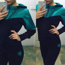 Dammode Witer 2-delad tröja Träningsoveraller Huvset