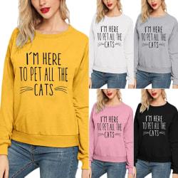 Ung stil kvinnlig söt husdjur katt brev