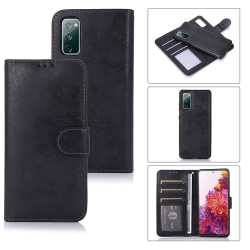 Samsung Galaxy S20 FE - LEMAN Plånboksfodral Svart