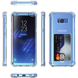 Samsung Galaxy S8 Plus - Skyddsskal med Korthållare transparent