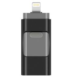 Micro-USB/Lightning Minne - (Spara ner allt från telefonen!) Svart