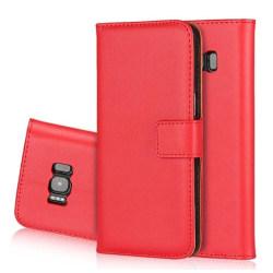 Plånboksfodral i Läder för Samsung Galaxy A5 (2016) av ROYBEN Röd