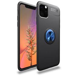 iPhone 11 - Skyddande Stilrent Skal med Ringhållare Svart/Blå