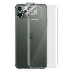 3-in-1 Fram- & Baksida + Kameralins iPhone 12 Pro Max Transparent/Genomskinlig