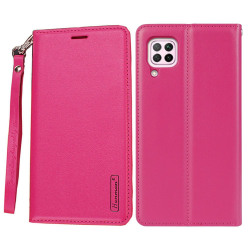 Samsung Galaxy A12 - HANMAN Plånboksfodral Rosaröd