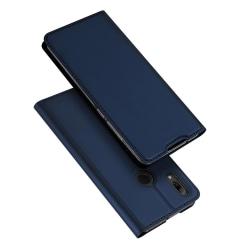 DUX DUCIS Stilrent Fodral med Kortfack - Huawei P Smart 2019 Marinblå