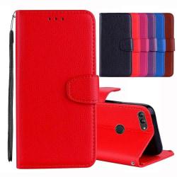 Huawei Honor 9 Lite - Praktiskt Plånboksfodral NKOBEE Röd