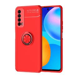 Huawei P Smart 2021 - Skyddsskal med Ringhållare Röd