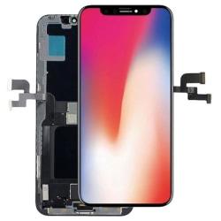 iPhone X GX Soft OLED LCD Skärm & Pekskärm Digitizer AAA+++ Svart