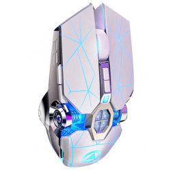 Professionell Gaming Mus Ergonomisk Bekväm Snabb (LED Ljus) vit Vit
