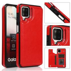 Samsung Galaxy A12 - Skal med Korthållare Röd